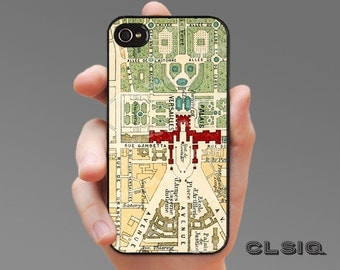 iPhone Case - Versailles Map for iPhone 6, iPhone 6 Plus, iPhone 5/5s, iPhone 5c, iPhone 4/4s, Samsung Galaxy S5, Galaxy S4, Galaxy S3