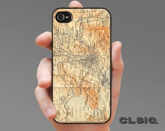 Vintage Athens Greece Map iPhone Case for iPhone 6, iPhone 5/5s, or iPhone 4/4s, Samsung Galaxy S6, Galaxy S5, Galaxy S4, Galaxy S3