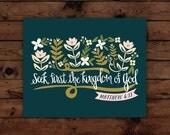Matthew 6:33 Print