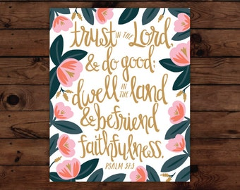 Psalm 37:3 Print