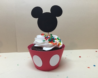 Mickey Mouse cupcake decorations