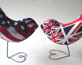 Love Bird Cake Toppers British & American Weddings Showers Parties Nursery Decor  Beaconhillccollect  We Ship Internationally