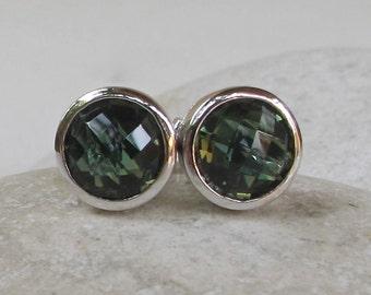 Green Quartz Earring- Green Topaz Earring- Classic Earring- Green Stud- Gemstone Earring- Green Earring