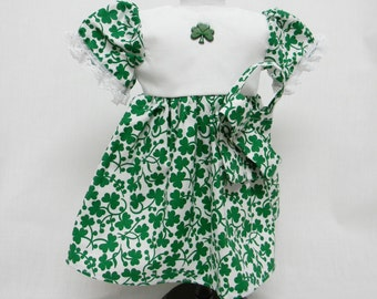 Shamrock Print St Patricks Dress For 18 Inch Dolls Like The American Girl