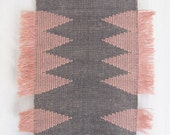 Handwoven wall hanging/ Fiber art/ Tapestry/ Weaving/ Cotton & linen