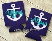 Anchor with Name Personalized can cooler