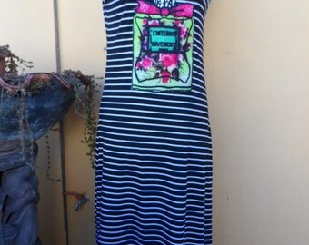 25% OFF CLEARANCE SALE 25 Percent Off Clearance sale comfy stretch 3/4 length striped print dress