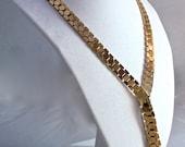 Trifari Gold Honeycomb Necklace