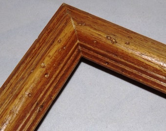 8 x 10 ~ Ready to Ship Picture Frame ~ Oak ~ Medium Color Stain ~ Worm Holes ~ 1 1/8 x 3/4 in x 5 1/6 in deep