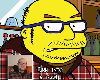 Digital Cartoon from Your Photos drawn in a Simpson Style