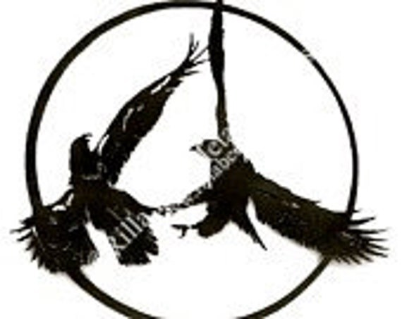 Round Eagles Custom Metal Sign