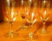 VALENTINESALE Red Tear Drop Wine Glasses Set of 4