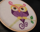 Owl Cross Stitch Hoop