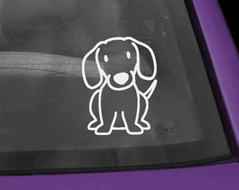 Dachshund Cartoon Vinyl Decal