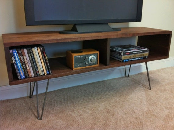 Mid Century Modern Tv Table Entertainment Console By