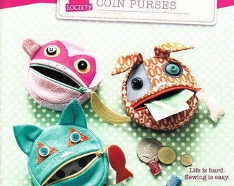 FEED THE ANIMALs, Coin Purses from Straight Stitch Society