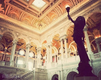 Library of Congress - fine art photograph, Washington DC art, photography, architecture photo, art print