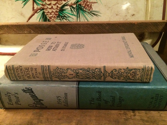Emily Post Etiquette Book: Two Vintage Books Emily Post's Etiquette C. 1945 And