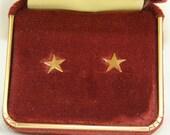 Karen Lynne earrings, star 14K gold filled, Vintage dead stock, new