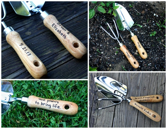 Personalized garden tool set hand trowel short shovel for Ladies garden trowel set