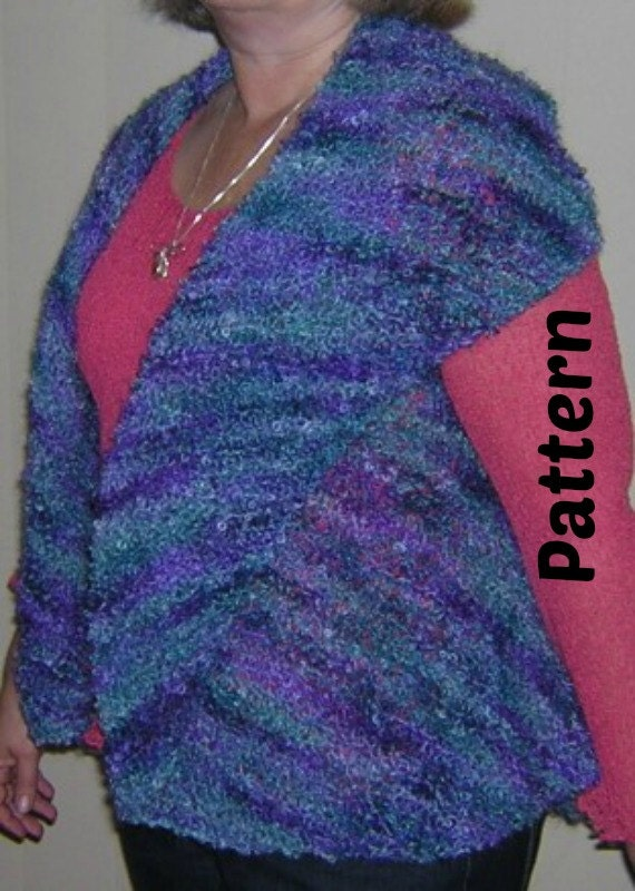 Knitting Pattern Mohair Jacket : Knitting Pattern - Boucle Mohair Knitting Yarn Ladies Vest or Jacket from tre...