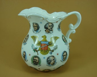 Chadwick - Miller US Presidents Jug, 1965 Pitcher, Presidential Memorabilia Jug, United States Government Souvenir