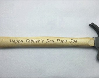 Personalized 8oz Hammer 100% Handmade - Made with YOUR CUSTOM Design!