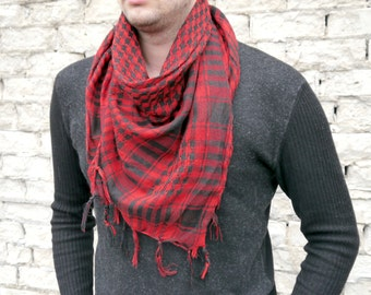 Men Scarf / Cotton Scarf / Summer Scarves / Square Cotton Scarf / Gift For Boyfriend / Best Man gift