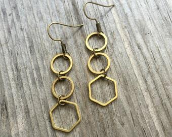 Circle Hex Earrings