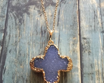 Clover Drusy Necklace