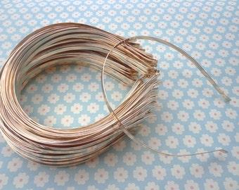 Gold headbands--40pcs 5mm gold plated metal headbands