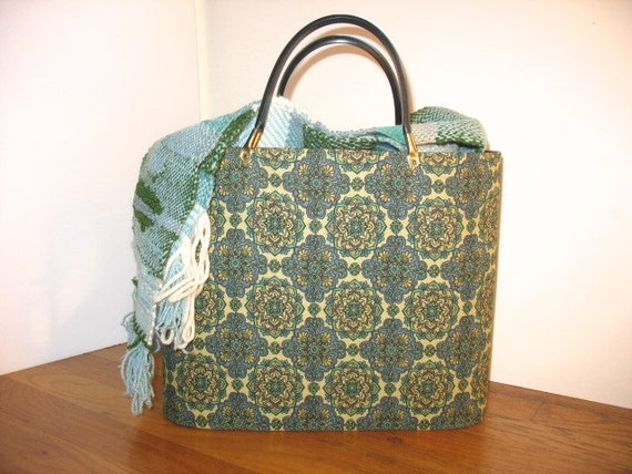 Vintage Knitting Bag : Mid century modern knitting bag vintage sewing project by
