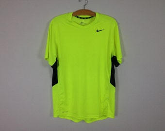 nike hi visibility neon green shirt size large
