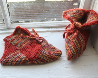 Finnish Style hand made booties/ socks/ slippers by your choice