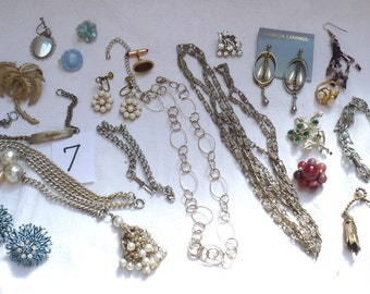 Jewelry Destash Lot 7-Necklaces,Earrings,Bracelets