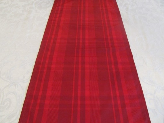 Red Plaid Table Runners - Red - Home Decor - Wedding Decor - Handmade