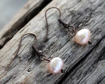 """Earrings """"Pearl Pink"""""""