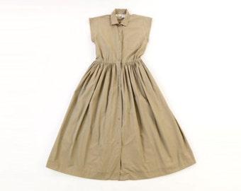 Cute Khaki button up dress