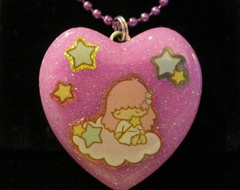 Star Twins Lala Necklace-Handmade Resin Pendant Jewelry