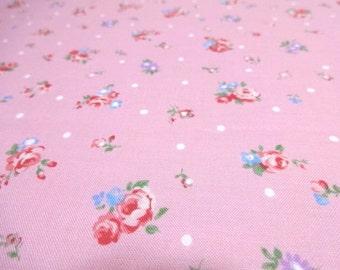 Japanese Fabric English Garden Puchi Flower Pink Fat Quarter