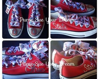 Ohio State University - Ohio State Buckeyes Custom Converse Shoes - Buckeye Apparel - OSU Football