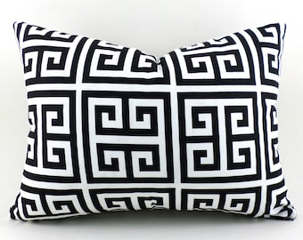 CLEARANCE SALE Lumbar Pillow Decorative Pillow Cover Premier Prints Towers Black and White