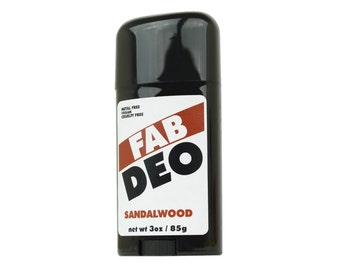 SANDALWOOD Natural Deodorant Deoderant Stick Vegan