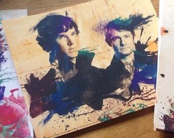 Sherlock Watson Watercolor Print