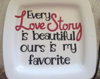 Love Story Plate