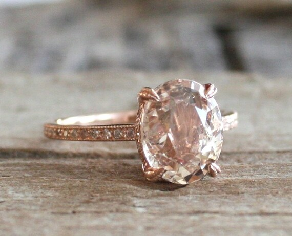 On Hold Certified 4 0 Ct Oval Peach Champagne Sapphire