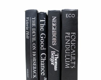 Vintage Books In Black / Book Decor / Wedding Prop / Home Decor / Instant Library / Decorative Books / Books to Decorate