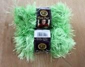 Bright Green Fun Fur by Lion Brand Dye Lot 148614 2 Skiens