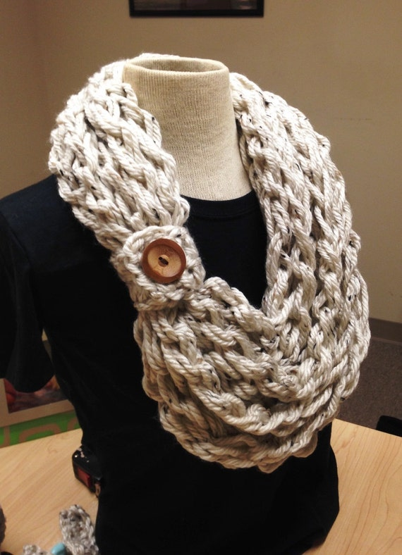 Items similar to Kays Crochet Rope Scarf Crochet Scarf
