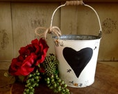 Rustic Flower Girl Basket, Rustic Wedding, Personalized.